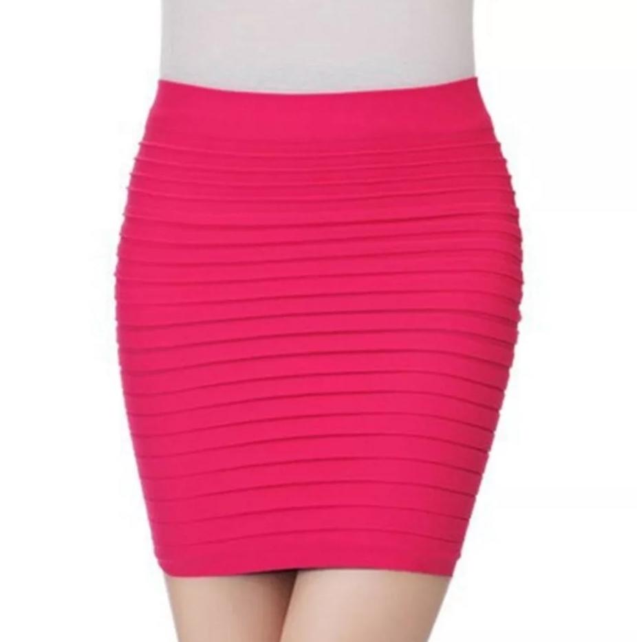 яркая плиссированная юбка